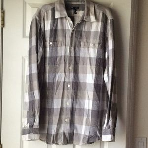 Gap Men's Classic Fit L flannel checked shirt